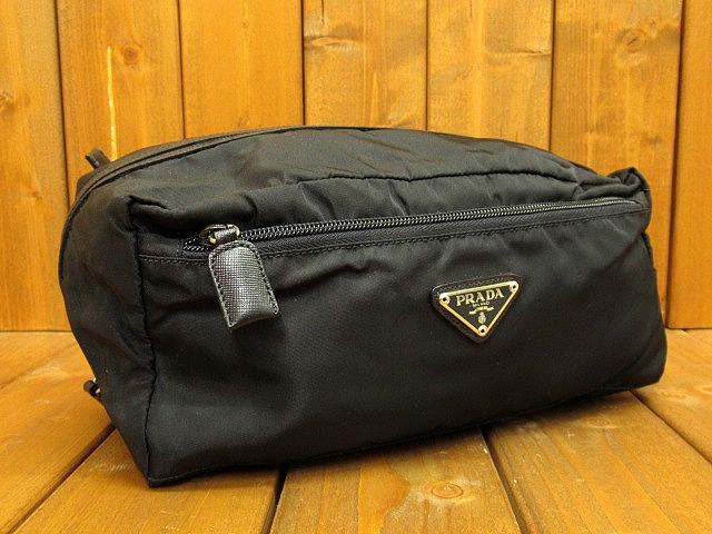 【中古】 PRADA/プラダ MV29 ナイロンポーチ カラー:ブラック
