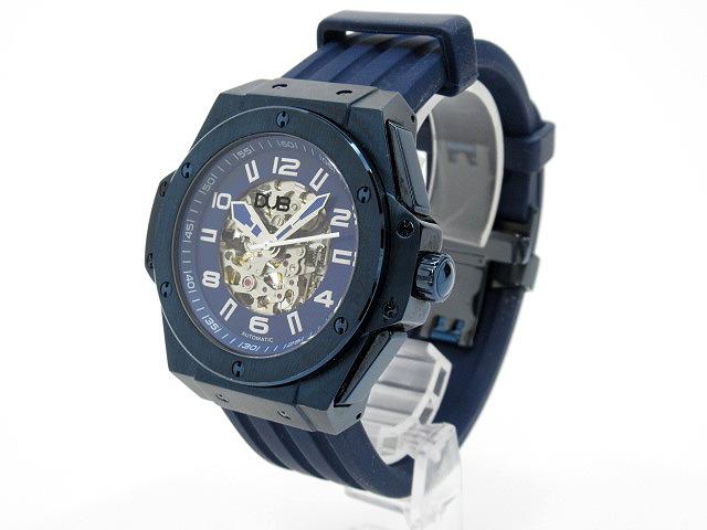 【中古】DUB/ダブ 腕時計 DUB-G017-001 ネイビー×ネイビー 自動巻き(オートマチック) ラバーベルト