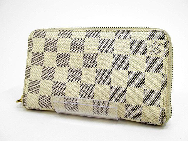 【中古】LOUIS VUITTON/ルイヴィトン N60029 ダミエ・アズール ジッピー・コンパクト ラウンドファスナー財布