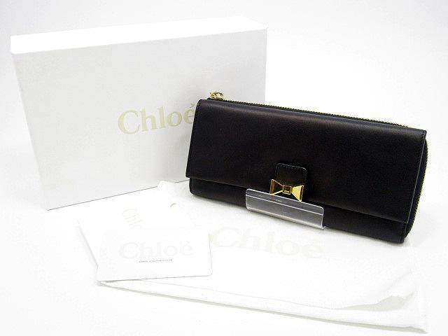 【中古】Chloe/クロエ 3P0664 ボビー / BOBBIE 長財布 / ロングウォレット カラー:ブラック