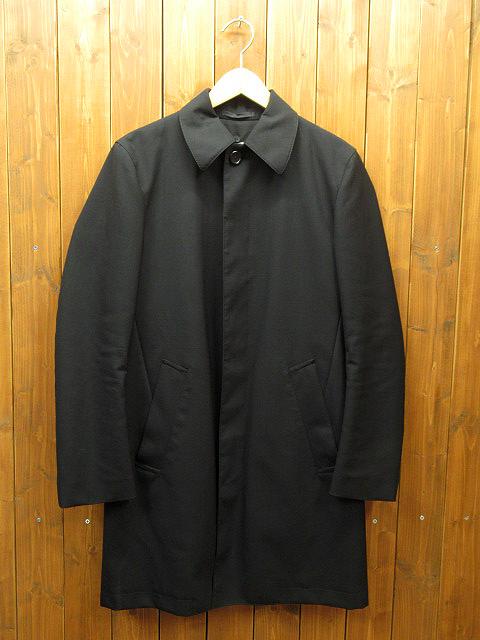 【中古】TOMORROWLAND/トゥモローランド ステンカラーコート ※内側ボタン欠品 サイズ:44 カラー:ブラック / セレクト