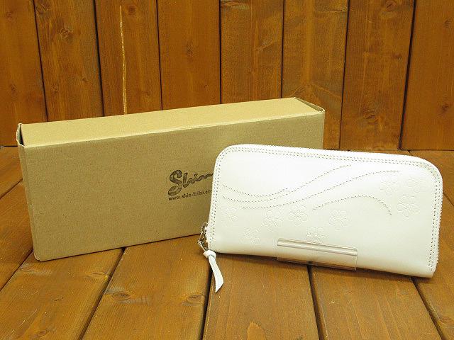 【中古】SHIN/シン ラウンドファスナー 長財布 / ロングウォレット カラー:ホワイト