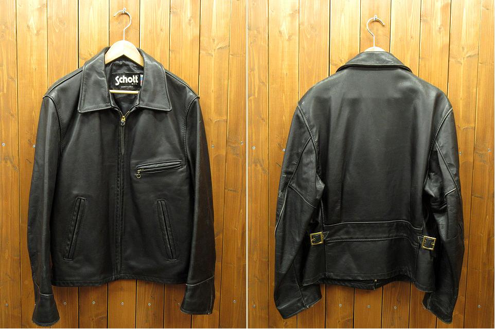 【中古】SCHOTT/ショット トラッカージャケット サイズ:38 カラー:ブラック / アメカジ
