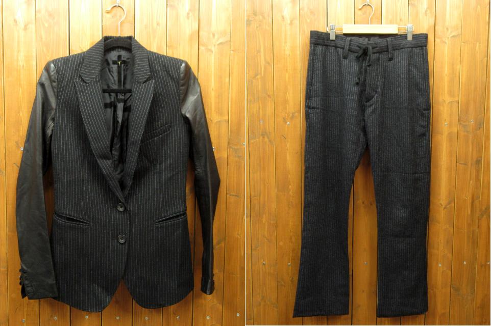 【中古】L.G.B. ルグランブルー セットアップ / ジャケット パンツ サイズ:ジャケット:0/パンツ:W28 カラー:ブラック / ドメス