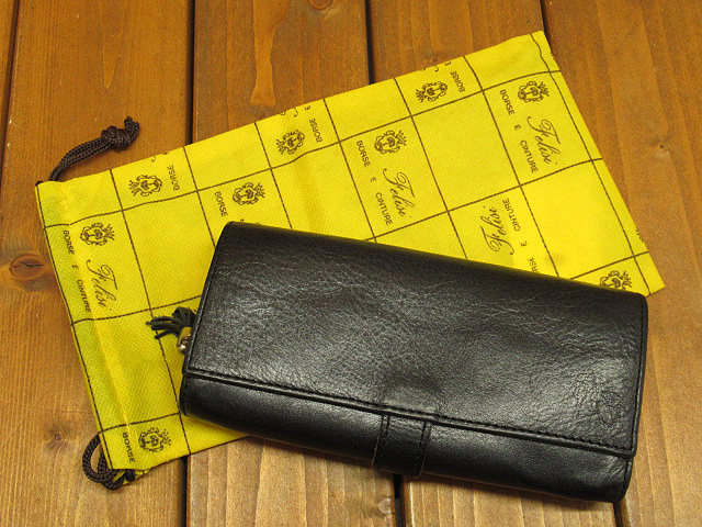 【中古】Felisi|フェリージ バケッタレザー 長財布 / ロングウォレット カラー:ブラック