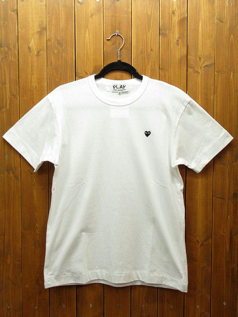 【中古】PLAY COMME des GARCONS|プレイコムデギャルソン S/S Tシャツ サイズ:M カラー:ホワイト / ドメス