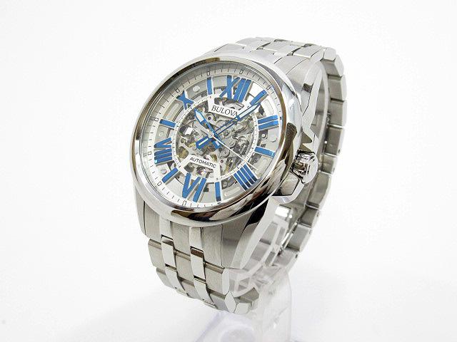 【中古】BULOVA ブローバ AUTOMATIC オートマチック 腕時計 96A187 シルバー×シルバー 自動巻き(オートマチック) ステンレススティールベルト