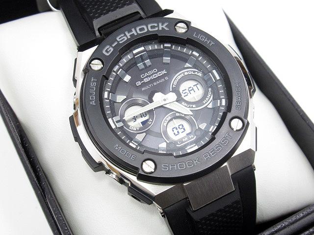 【中古】CASIO|カシオ G-SHOCK G-STEEL ジーショック Gスチール 腕時計 GST-W300-1AJF ブラック×ブラック ソーラー 樹脂バンド