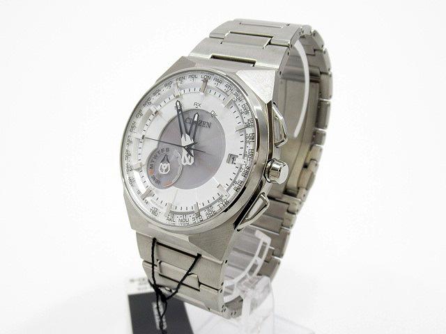 【中古】CITIZEN|シチズン エコ・ドライブ サテライト ウエーブ F100. 腕時計 CC2001-57A シルバー×シルバー ソーラー チタンベルト