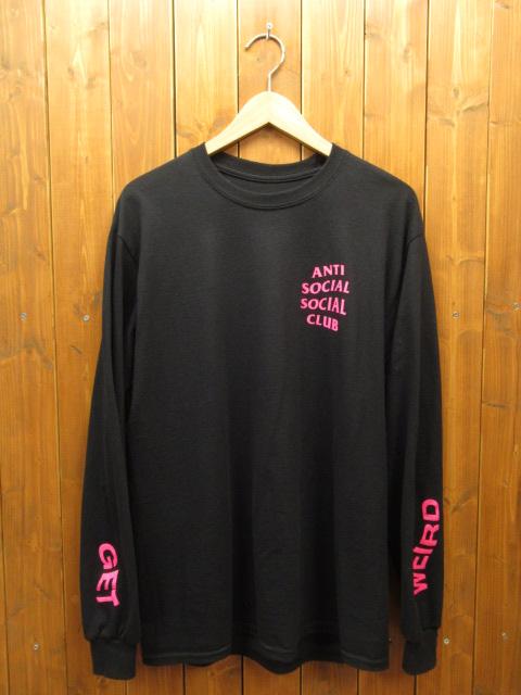 【中古】ANTI SOCIAL SOCIAL CLUB|アンチソーシャルソーシャルクラブ GET WEIRDER BLACK LS ロングスリーブ【f103】 サイズ:M カラー:ブラック / ストリート