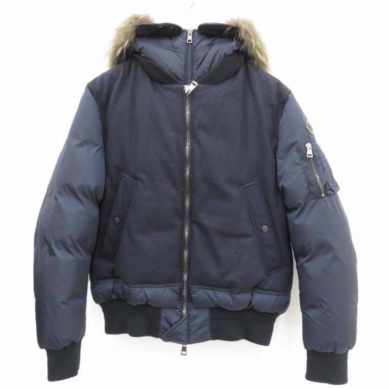 【中古】MONCLER|モンクレール MUSCADE マスケード ダウンジャケット ネイビー サイズ:3【f108】