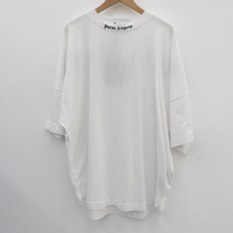 【中古】PALM ANGELS|パームエンジェルス 20AW/CLASSIC LOGO OVER TEE/Tシャツ半袖 ホワイト サイズ:L【f108】