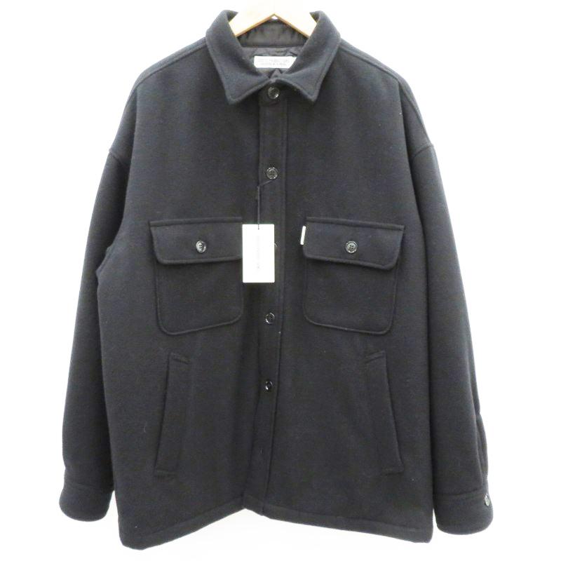 中古 定番キャンバス COOTIE クーティ 20AW Wool Mossa CPO 返品交換不可 Jacket ブラック ジャケット f096 モッサ CTE-20A211 サイズ:L ウール
