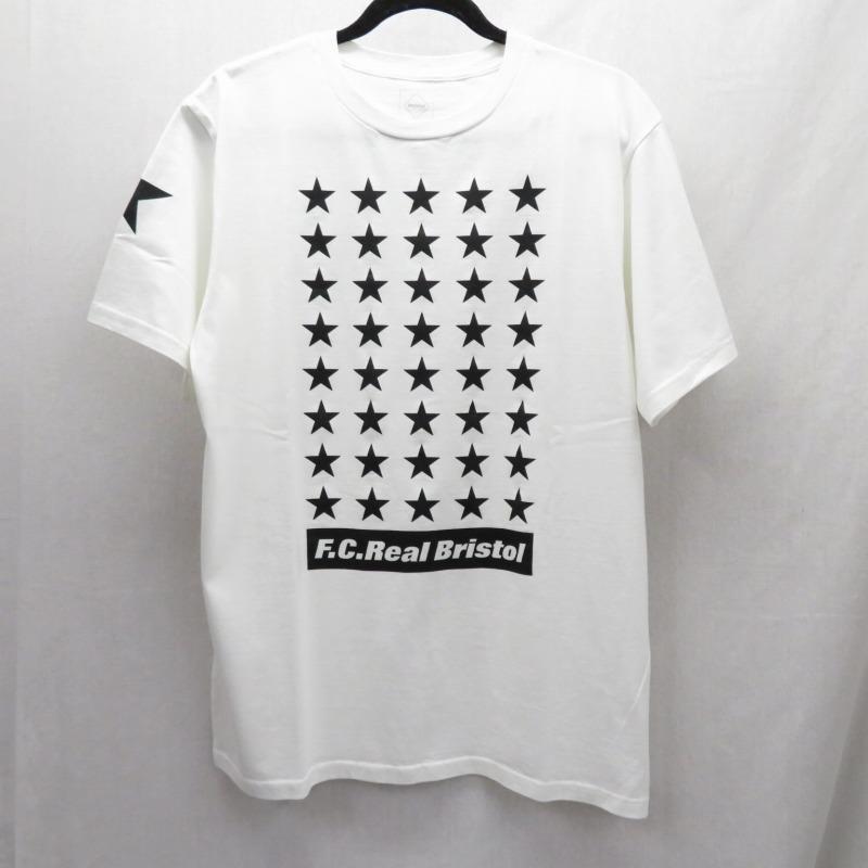 【中古】F.C.R.B./F.C.Real Bristol/エフシーレアルブリストル 19AW/42 STARS TEE Tシャツ半袖 サイズ:XL カラー:ホワイト / ストリート【f103】