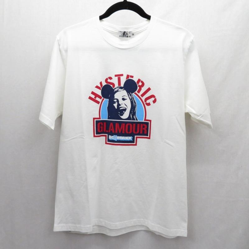 【中古】HYSTERIC GLAMOUR×BE@RBRICK/ヒステリックグラマー×ベアブリック BE@R&GIRL 2019 Tシャツ半袖 サイズ:M カラー:ホワイト / ドメス【f104】