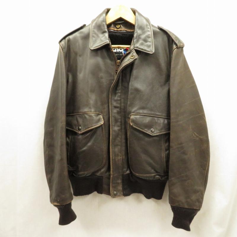 【中古】SCHOTT/ショット レザージャケット サイズ:42 カラー:ブラウン系 / アメカジ【f093】