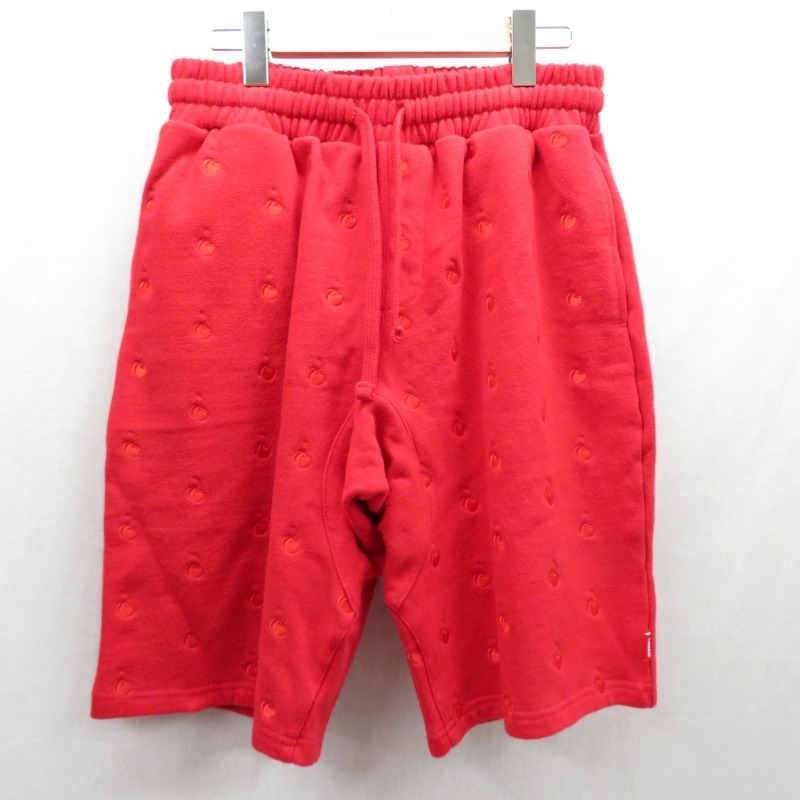 【中古】KITH×COCA-COLA/キス×コカコーラ ショートパンツ サイズ:S カラー:レッド【f107】