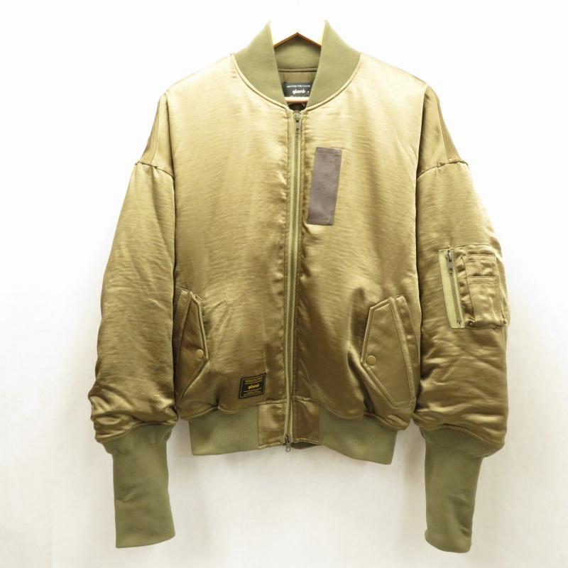 【中古】glamb/グラム Creed MA-1 ジャケット サイズ:0 カラー:カーキ系 / ドメス【f096】
