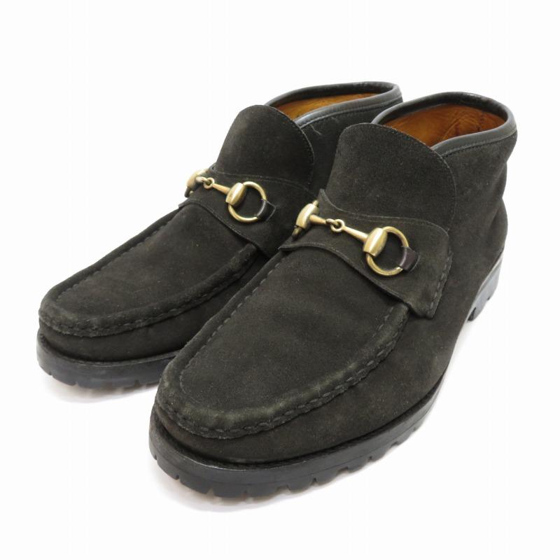 【中古】GUCCI/グッチ ホースビットショートブーツ サイズ:25.0cm カラー:ブラック【f135】