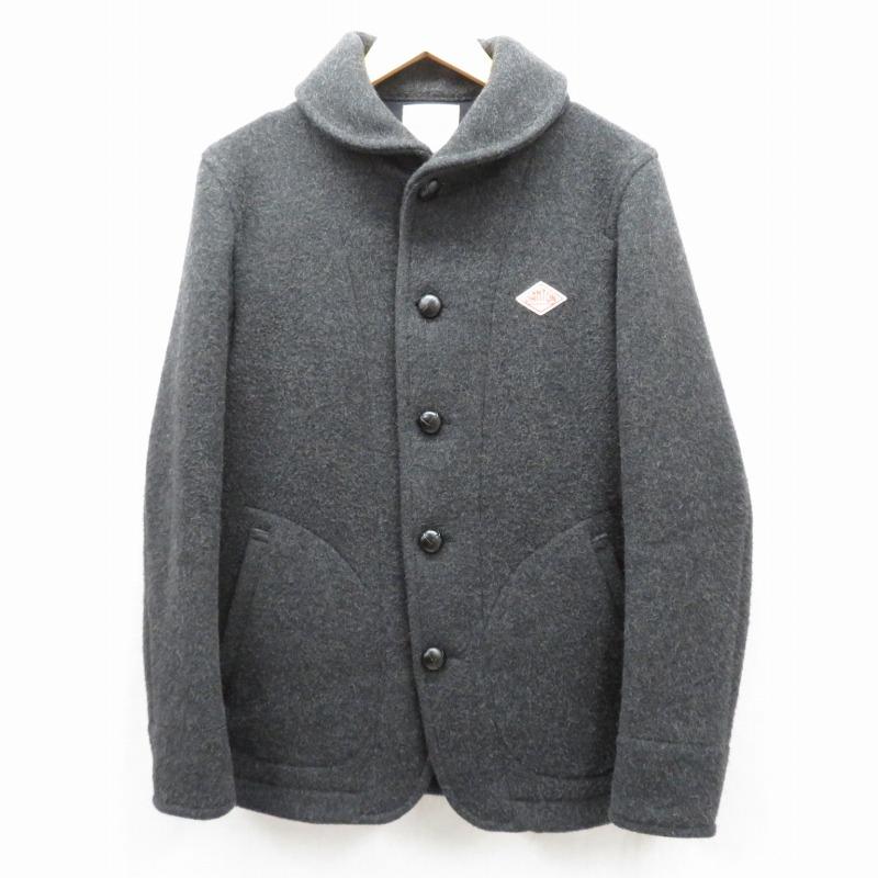 【中古】DANTON/ダントン ウールモッサシングルコート サイズ:40 カラー:ブラック / セレクト【f091】