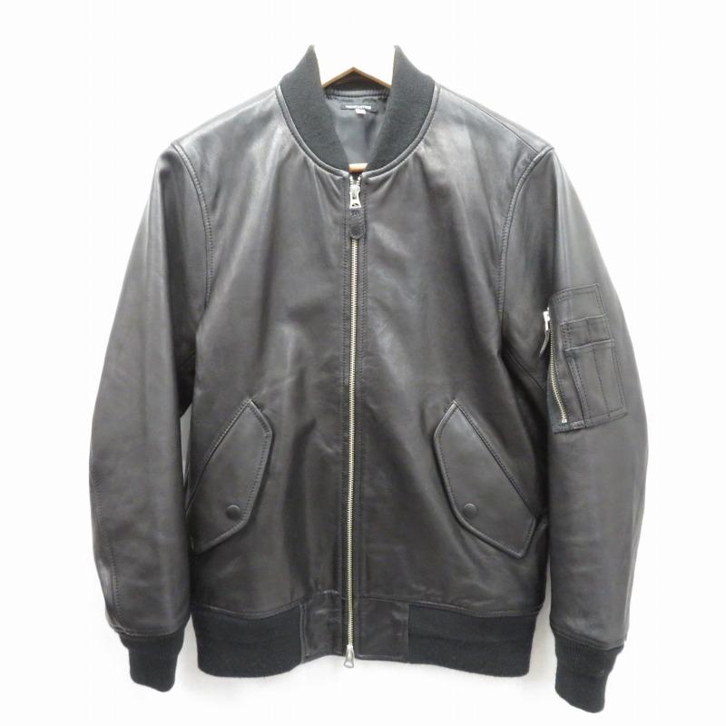 【期間限定】ポイント20倍【中古】FREAK'S STORE/フリークスストア レザーMA-1ジャケット サイズ:M カラー:ブラック / セレクト【f091】