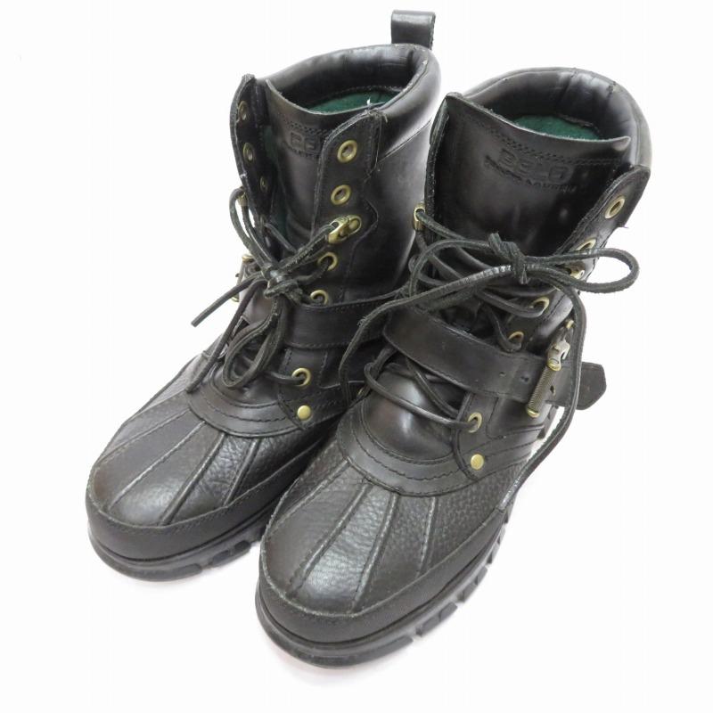 【中古】POLO RALPH LAUREN/ポロ ラルフローレン ブーツ サイズ:26.0cm カラー:ブラック【f127】