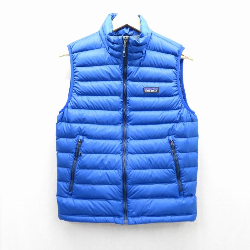 【期間限定】ポイント20倍【中古】patagonia/パタゴニア M's Down Sweater Vest ダウンベスト サイズ:S カラー:ブルー / アウトドア【f092】