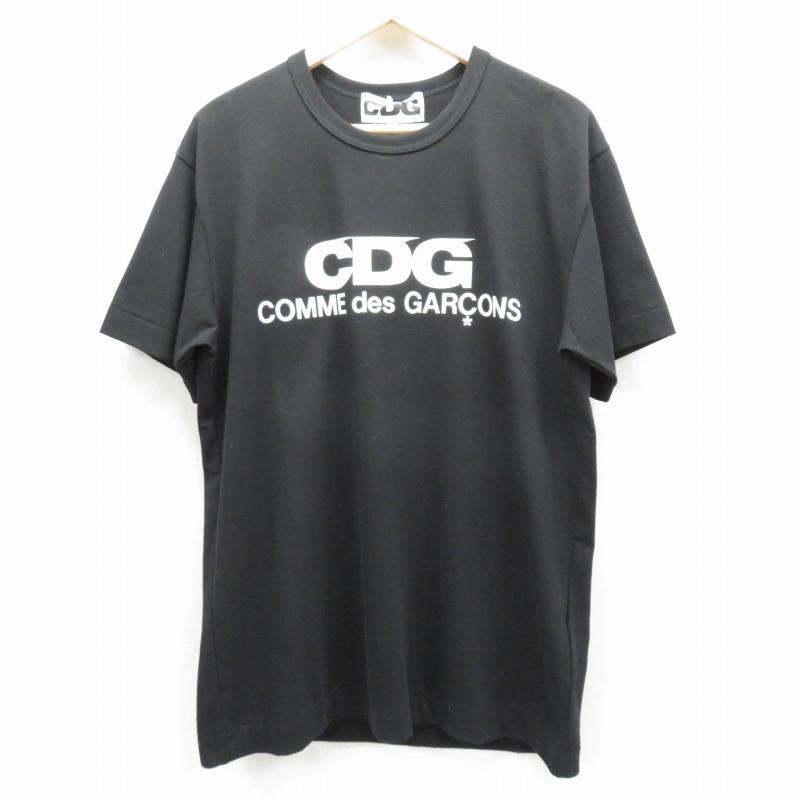 【期間限定】ポイント20倍【中古】CDG COMME des GARCONS/シーディージー コムデギャルソン CDGロゴTシャツ 半袖 サイズ:XL カラー:ブラック【f108】