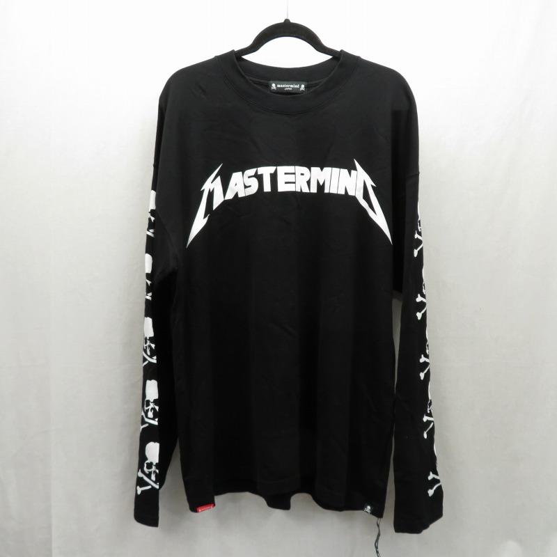 ふるさと割 中古 贈り物 mastermind JAPAN マスターマインドジャパン Tシャツ長袖 ドメス カラー:ブラック サイズ:XL f103