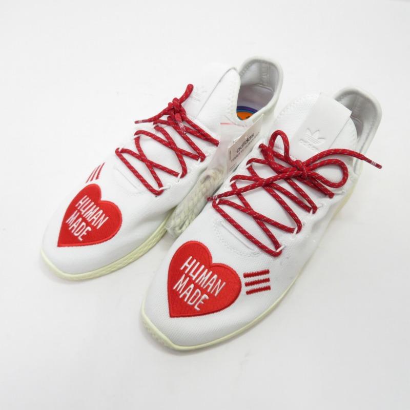 【中古】adidas/アディダス Pharrell Williams TENNIS HU HUMAN MADE EF2392 スニーカー サイズ:28.0cm カラー:ホワイト【f126】