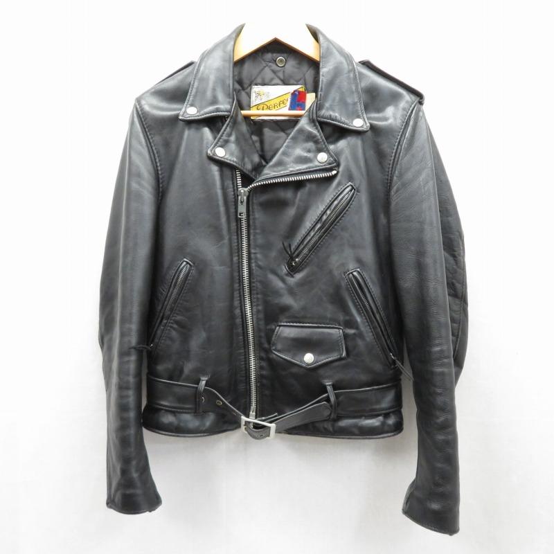 【中古】SCHOTT/ショット 618 ダブルライダース レザージャケット サイズ:36 カラー:ブラック / アメカジ【f093】