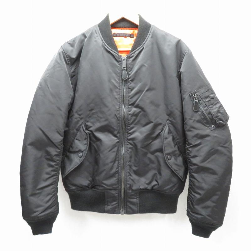 【中古】AVIREX/アビレックス MA-1 ミリタリージャケット サイズ:EXTRA LARGE カラー:ブラック / アメカジ【f093】