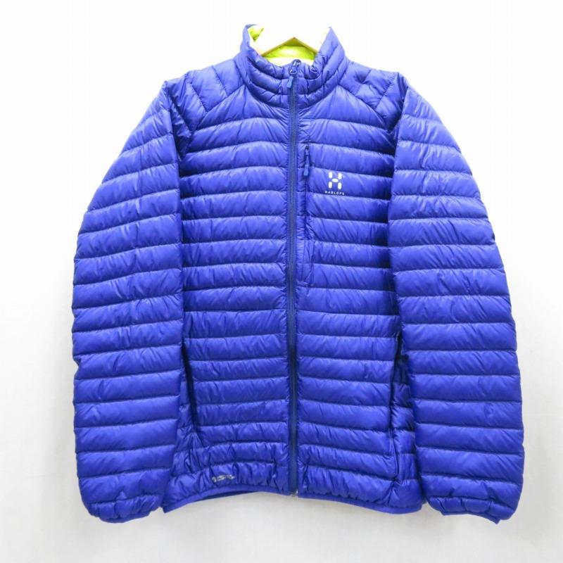 【中古】HAGLOFS/ホグロフス Essens II Down Jacket ダウンジャケット サイズ:M カラー:パープル / アウトドア【f092】