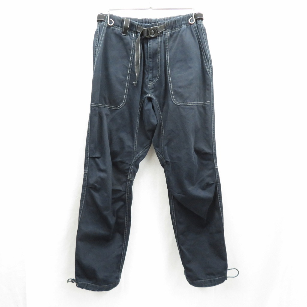 【中古】and wander×BEAVER/アンドワンダー×ビーバー 別注Cotton Climbing Pants パンツ サイズ:3 カラー:ブラック / アウトドア【f107】