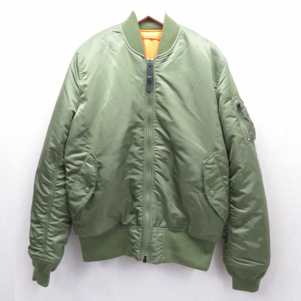 【中古】ALPHA/アルファ MA-1 ミリタリージャケット サイズ:XL カラー:カーキ / アメカジ【f093】