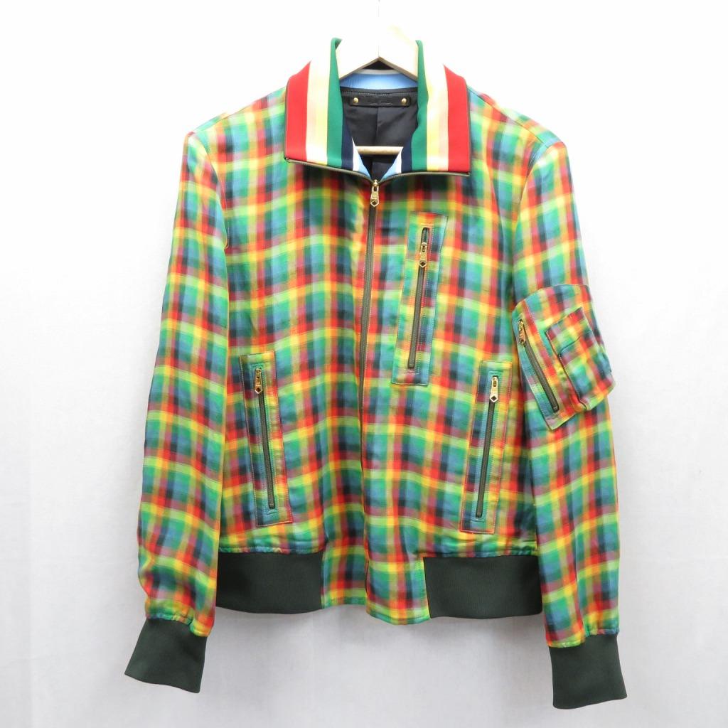 【中古】Paul Smith/ポールスミス COTTON STAND COLLAR BLOSON ジャケット サイズ:M カラー:マルチ / インポート【f094】