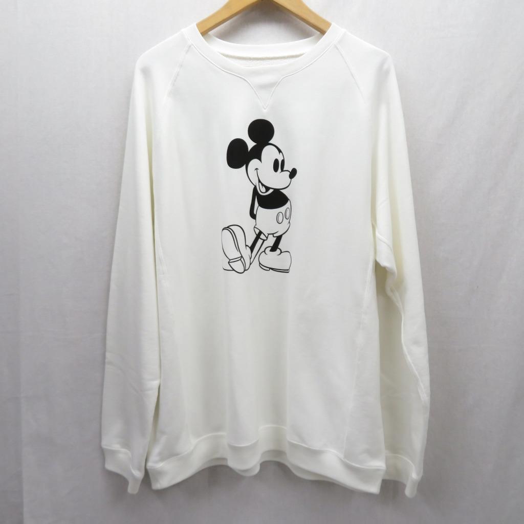 【中古】TAKAHIRO MIYASHITA TheSoloist/タカヒロミヤシタザソロイスト 20SS/oversized Mickey Mouse crew neck sweatshirt スウェット サイズ:44 カラー:ホワイト / ドメス【f104】