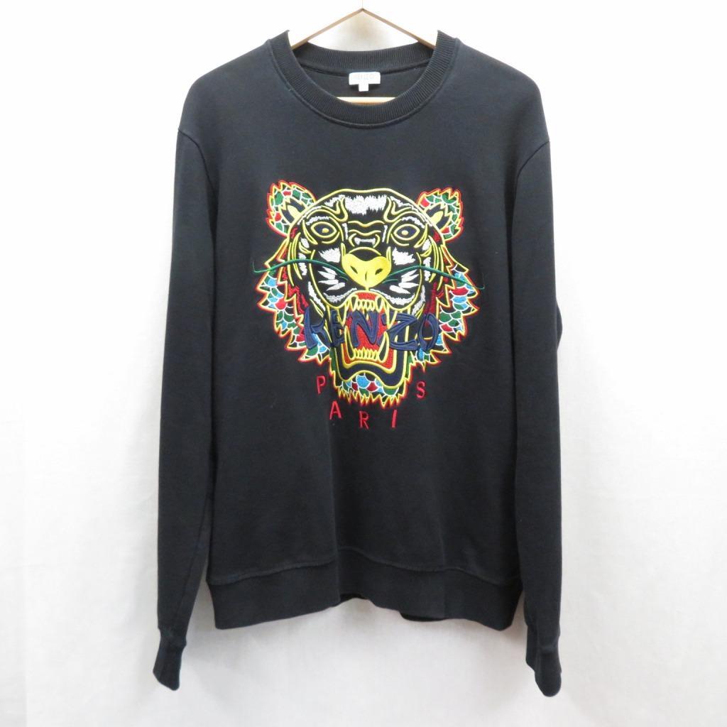 【中古】KENZO/ケンゾー DRAGON TIGER SWEAT SHIRTS スウェット サイズ:L カラー:ブラック【f108】