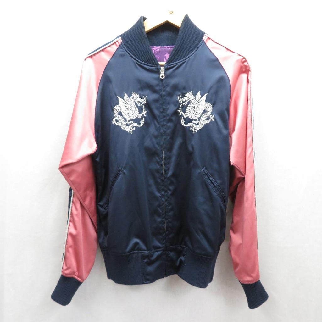 【中古】FULL COUNT/フルカウント スカジャン ジャケット サイズ:M カラー:ネイビー/ピンク / アメカジ【f093】