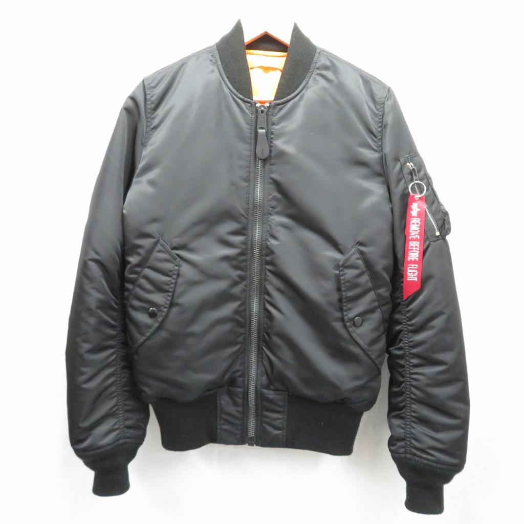 【中古】ALPHA/アルファ MA-1 ミリタリージャケット サイズ:S カラー:ブラック / アメカジ【f093】