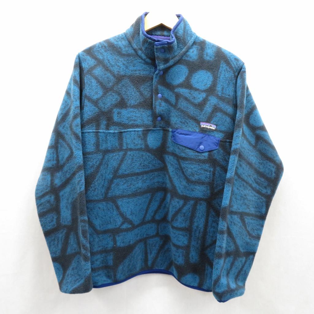 【中古】patagonia/パタゴニア Synchilla Snap-T Pullover/シンチラ・スナップT・プルオーバー サイズ:S カラー:ブルー / アウトドア【f100】