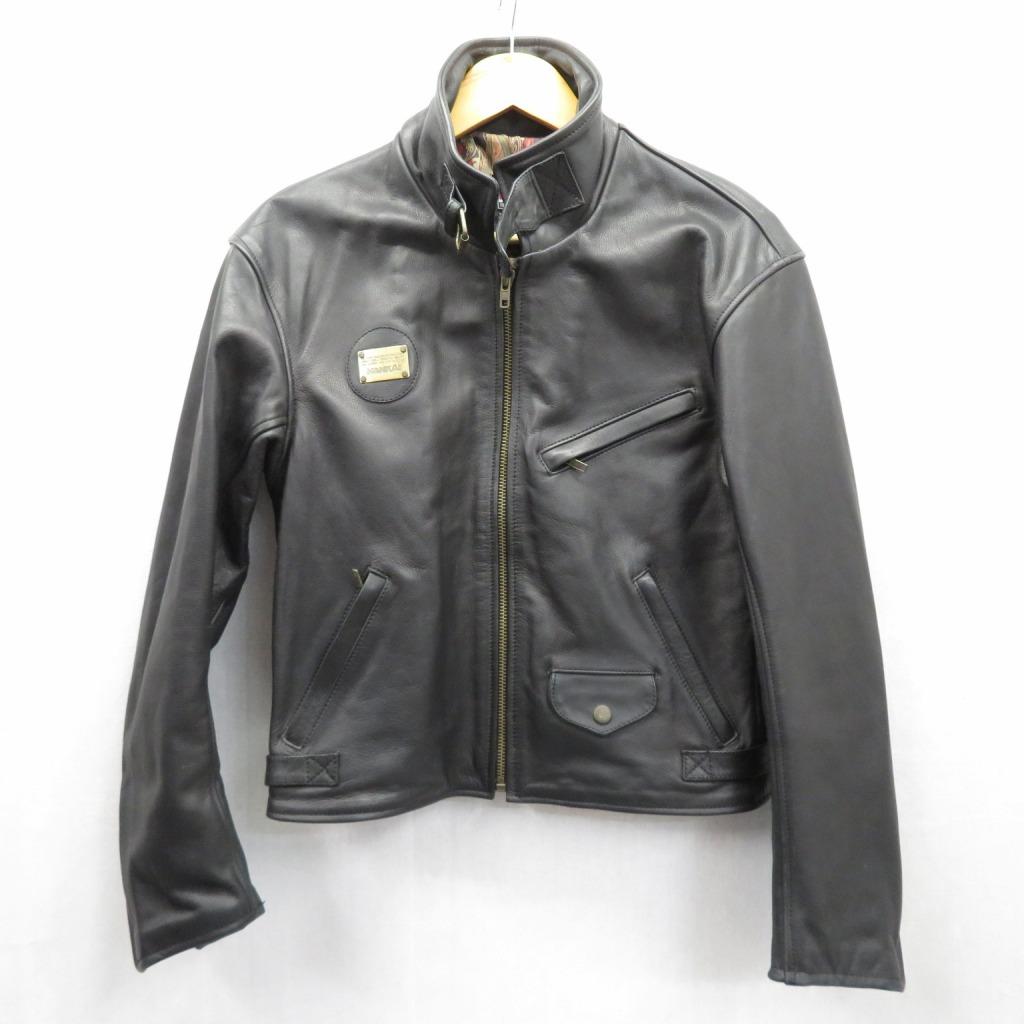 【中古】NANKAI/ナンカイ レザージャケット サイズ:M カラー:ブラック / アメカジ【f093】