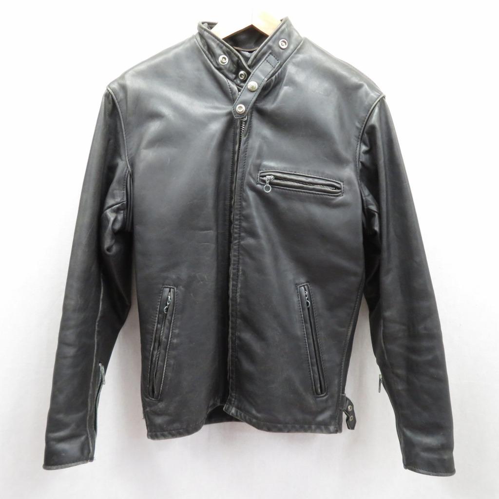 【中古】SCHOTT/ショット レザージャケット サイズ:34 カラー:ブラック / アメカジ【f093】