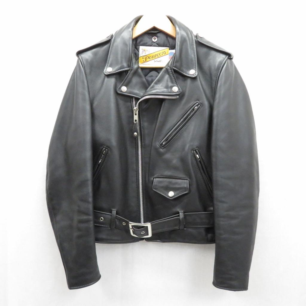 【中古】SCHOTT/ショット ダブルライダース レザージャケット サイズ:36 カラー:ブラック / アメカジ【f093】