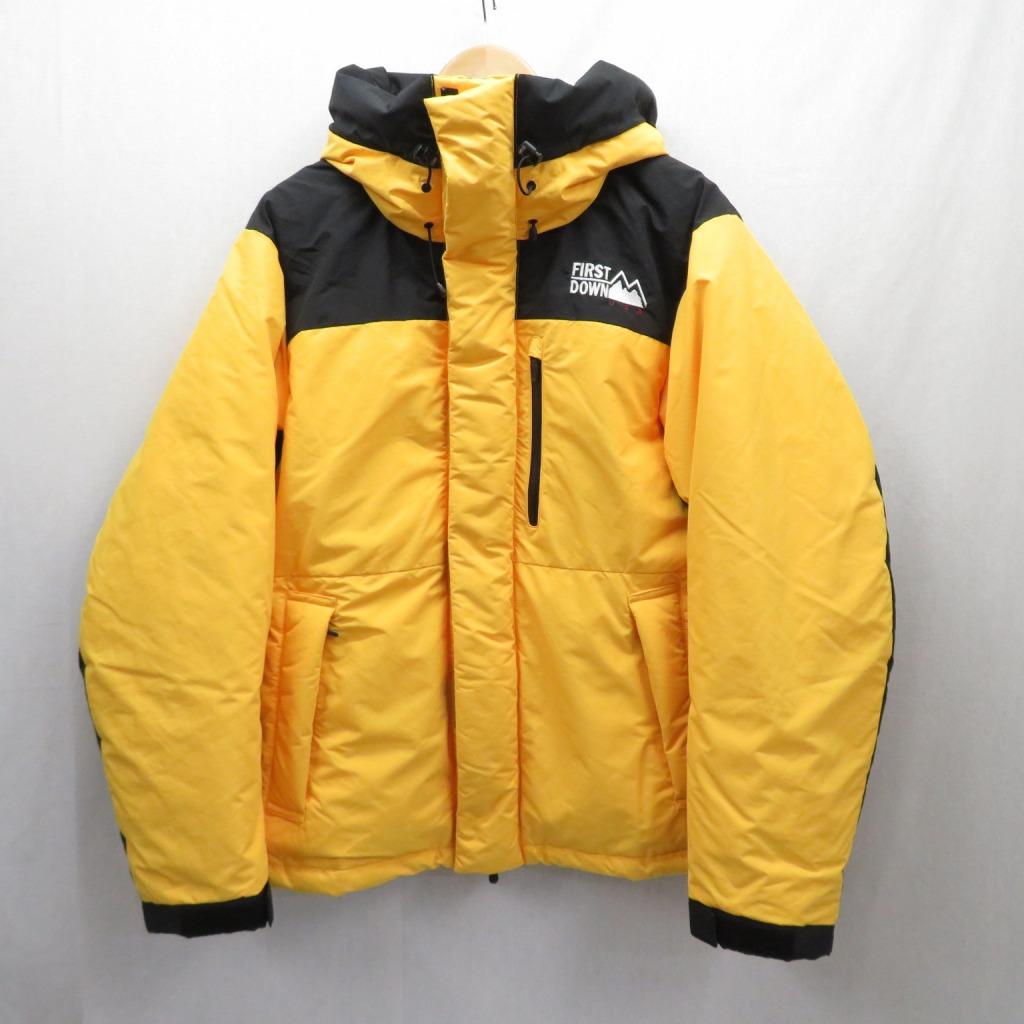 【中古】FIRST DOWN/ファーストダウン MAURI ダウンパーカー ジャケット サイズ:L カラー:イエロー / アウトドア【f092】
