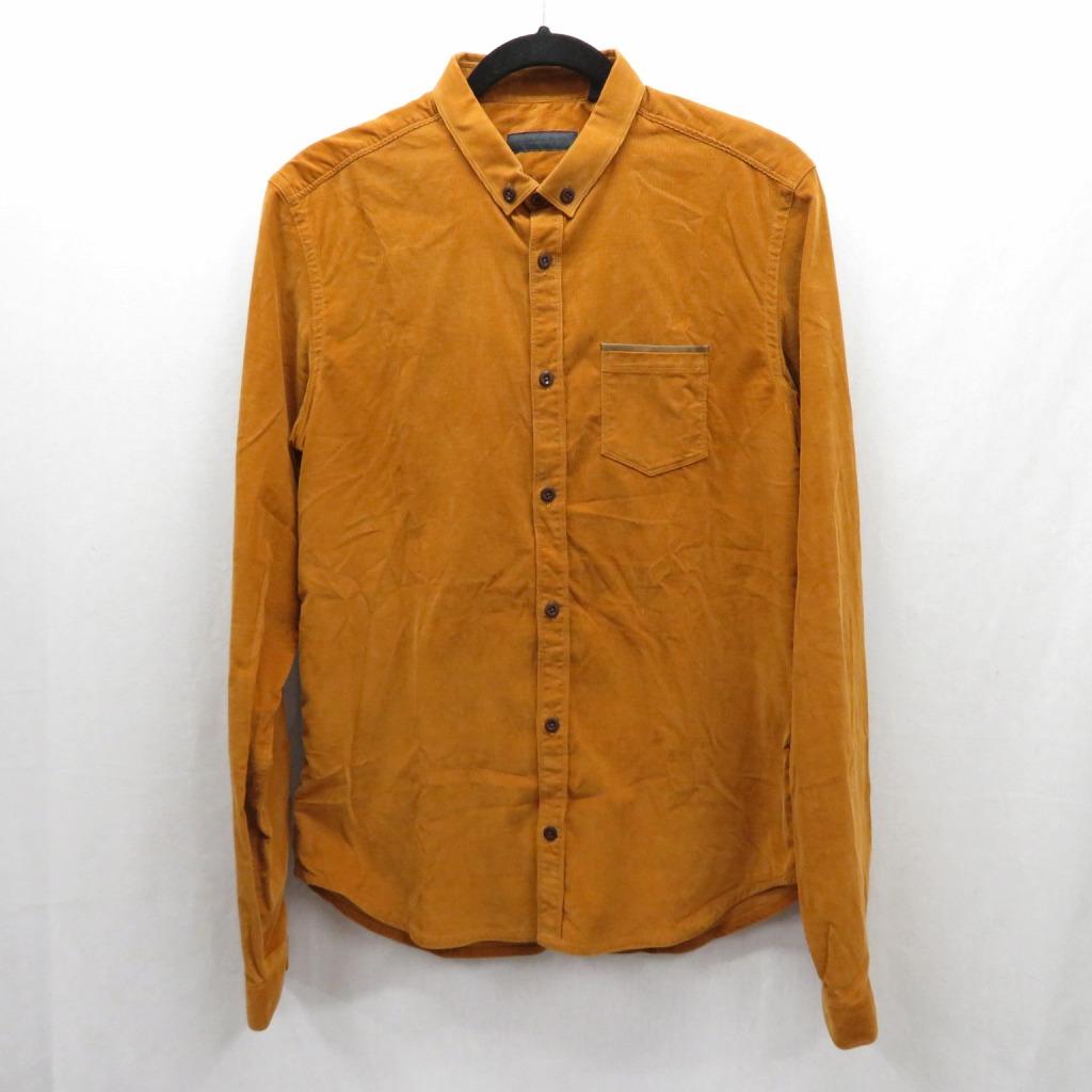 【中古】BURBERRY PRORSUM/バーバリー プローサム シャツ長袖 サイズ:42 カラー:ブラウン系 / インポート【f102】