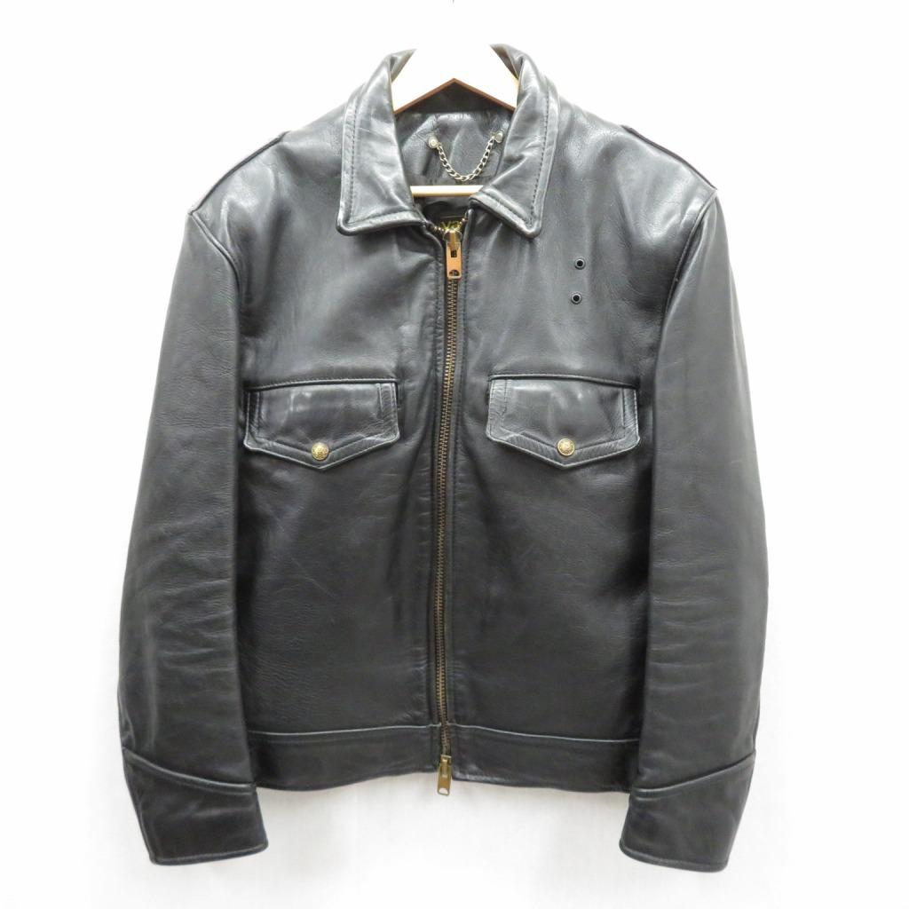 【中古】VANSON/バンソン レザートラッカージャケット サイズ:36 カラー:ブラック / アメカジ【f093】