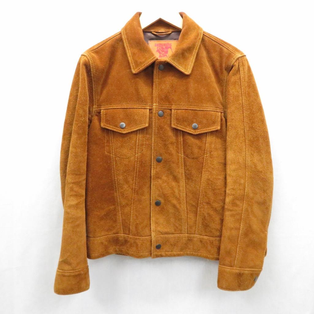 【中古】ANDFAMILYS /アンドファミリーズ STEER SUEDE レザージャケット サイズ:38 カラー:ブラウン系【f096】
