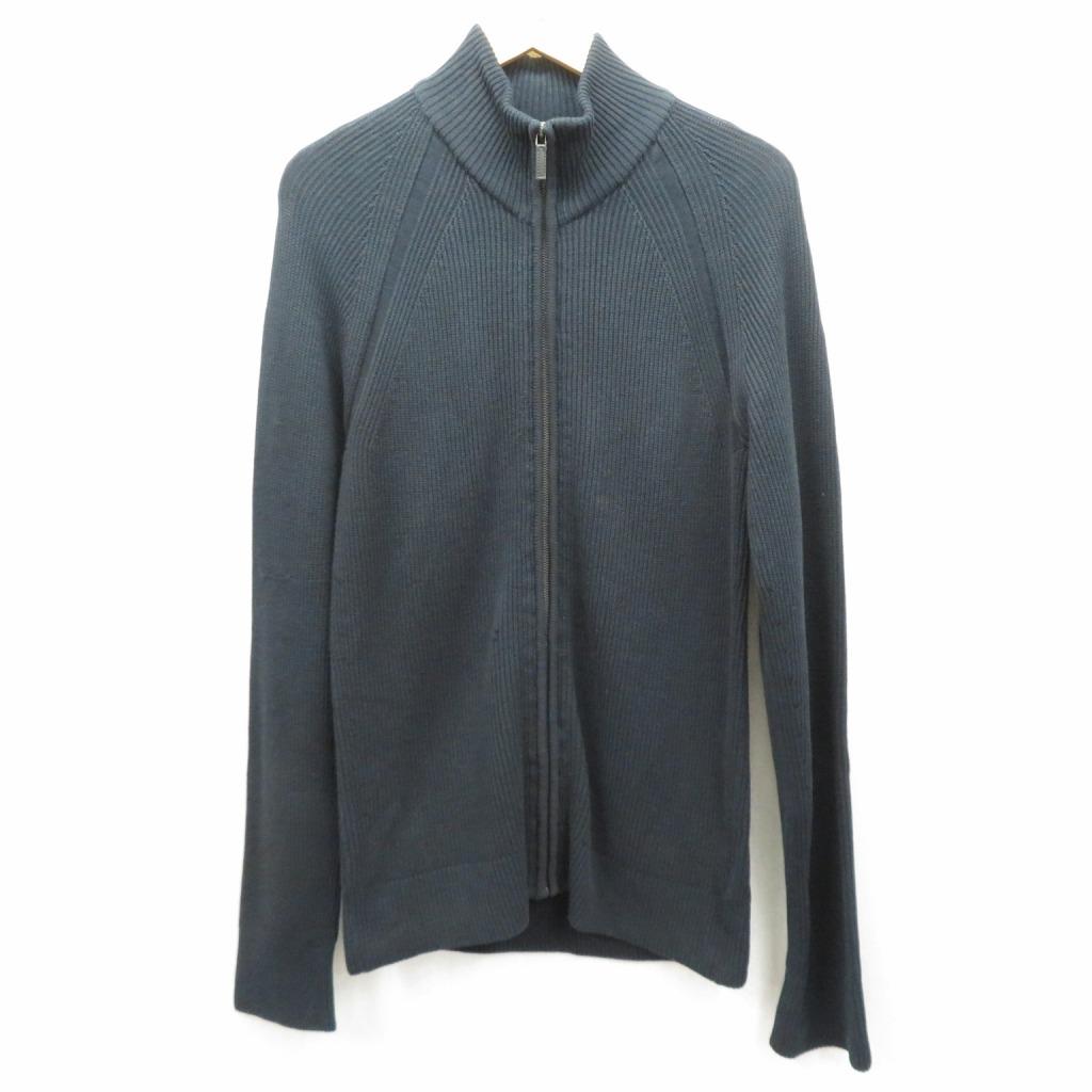 【中古】GUCCI/グッチ ニットジャケット サイズ:L カラー:ネイビー【f108】