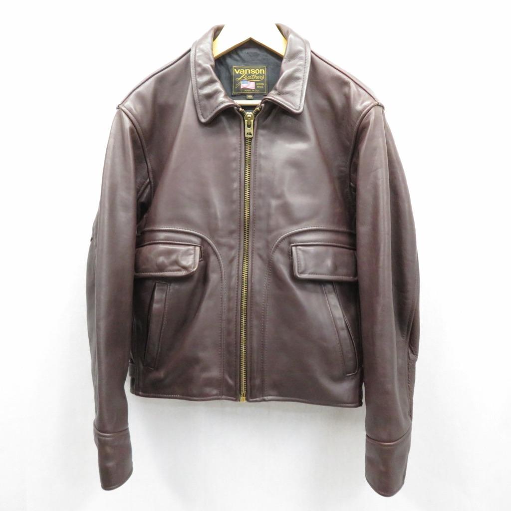 【中古】VANSON/ヴァンソン レザージャケット サイズ:40 カラー:ブラウン / アメカジ【f093】